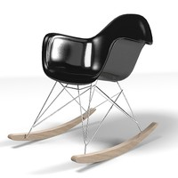 charles ray eames rocking chair armchair modern plastic
