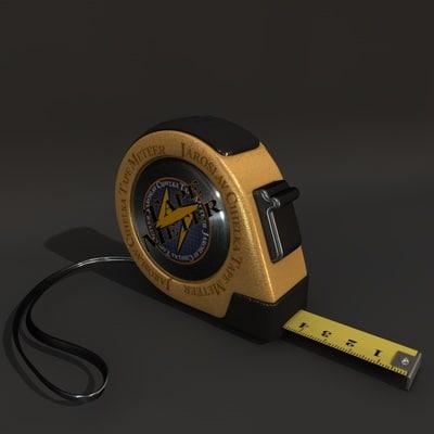 3d model measure tape