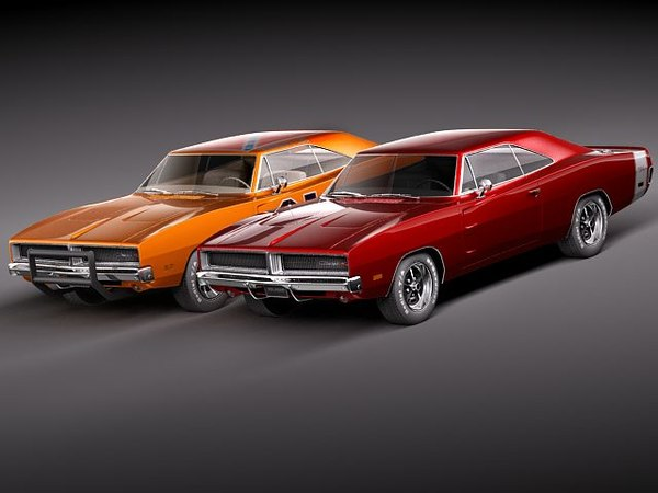 3d model dodge charger 1969 rt