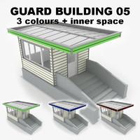 guard building 05 3d model