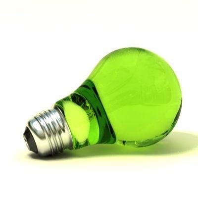 free render lightbulb 3d model