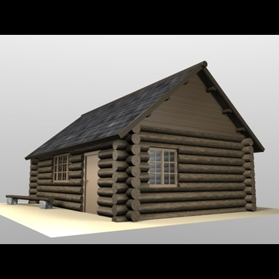 house wooden forest 3d obj