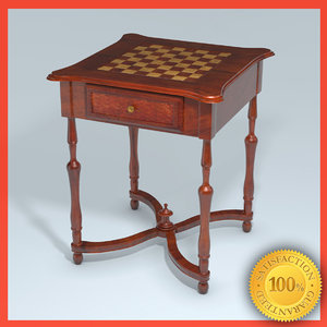 free 3ds mode fine wooden chess table