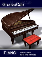 polygonal piano 3d model