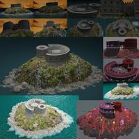 3d model mamula island