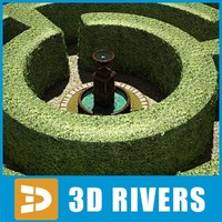 Garden maze with fountain by 3DRivers
