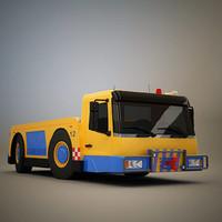 aircraft tow truck 3d model