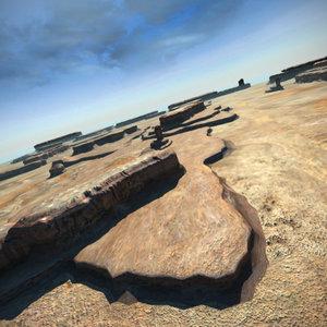 terrain scene landscapes 3d model