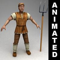 Animated peasant
