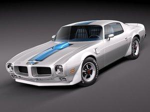 pontiac firebird trans 3d model