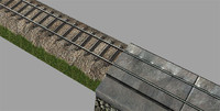 rail set 3d obj