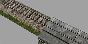 rail set 3d obj