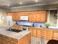 kitchen scene 3d model