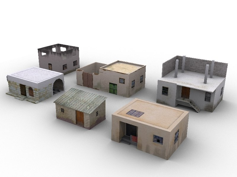 3ds Max Web Arabic Houses