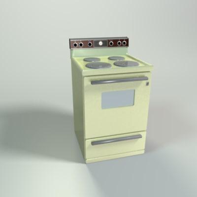 oven metal 3d model