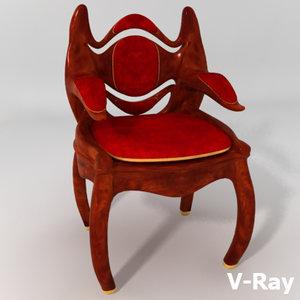 fantasy chair victorian max