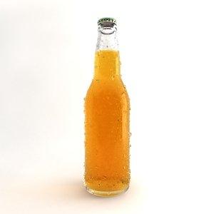 3d frozen bottle beer