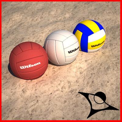 volley ball 3d model