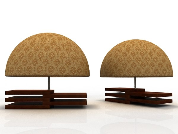 3d model of table lamps