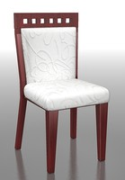 3d wooden dining chair model