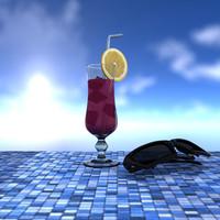 cocktail & sunglasses