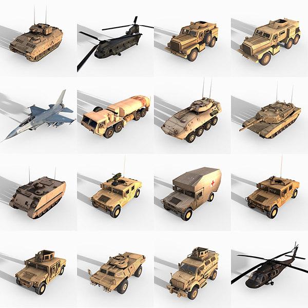 max 16 military vehicles