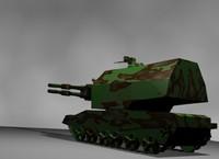 free artillery koalitsiya-sv tank 3d model