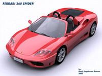 ferrari 360 modena spyder 3ds
