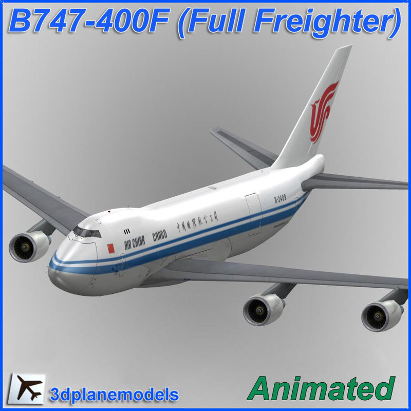 b747-400 air china cargo 3d model