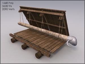 3d model battering ram