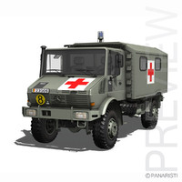 Mercedes Benz - Unimog - Belgian Ambulance
