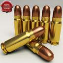 7.62x25 cartridge 3D models
