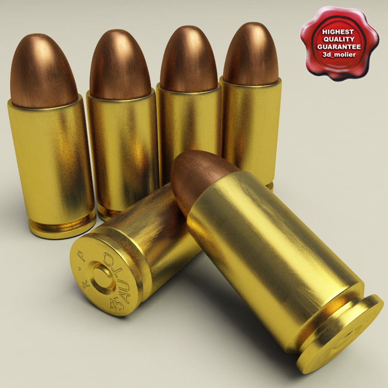 cartridge 45 acp 3d model