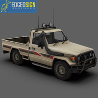 toyota land cruiser fzj75 3d model