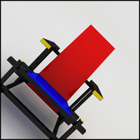 gerrit rietveld red blue 3d model