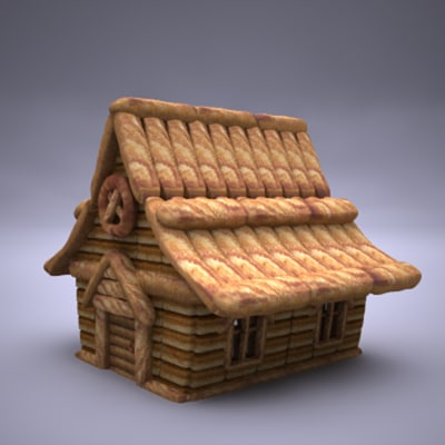 3d model ginger bread house