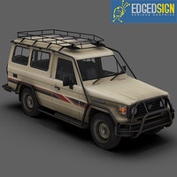 3d toyota land cruiser hzj75 model
