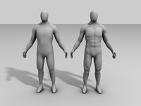 Human Male Base mesh (Low & high poly)