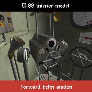 interior ww1 german 3d 3ds