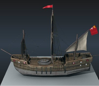 medieval ship 3ds