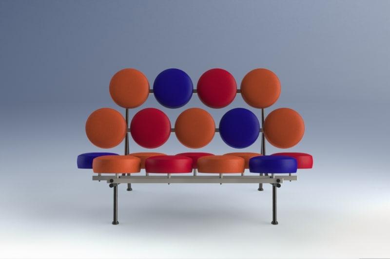 3d model nelson marshmallow sofa