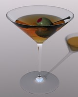 3d martini glass model