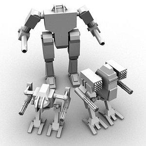 mech object 3d model