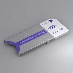 sony memory stick adaptor 3d max