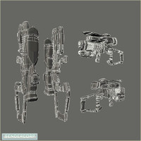 set weapon 3d model