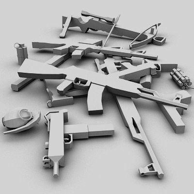 3d model weapons m16