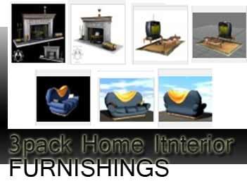 set home interior 3d model