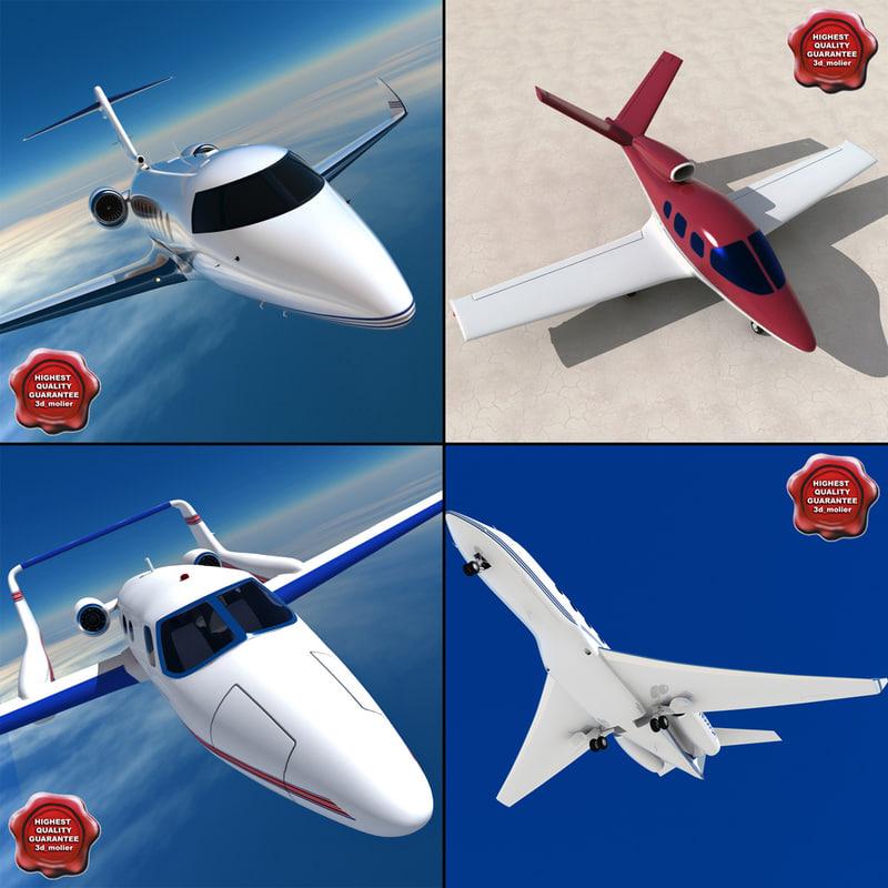 3d model private aircraft v1
