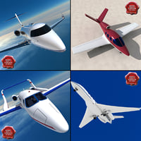 3d model private aircraft v1