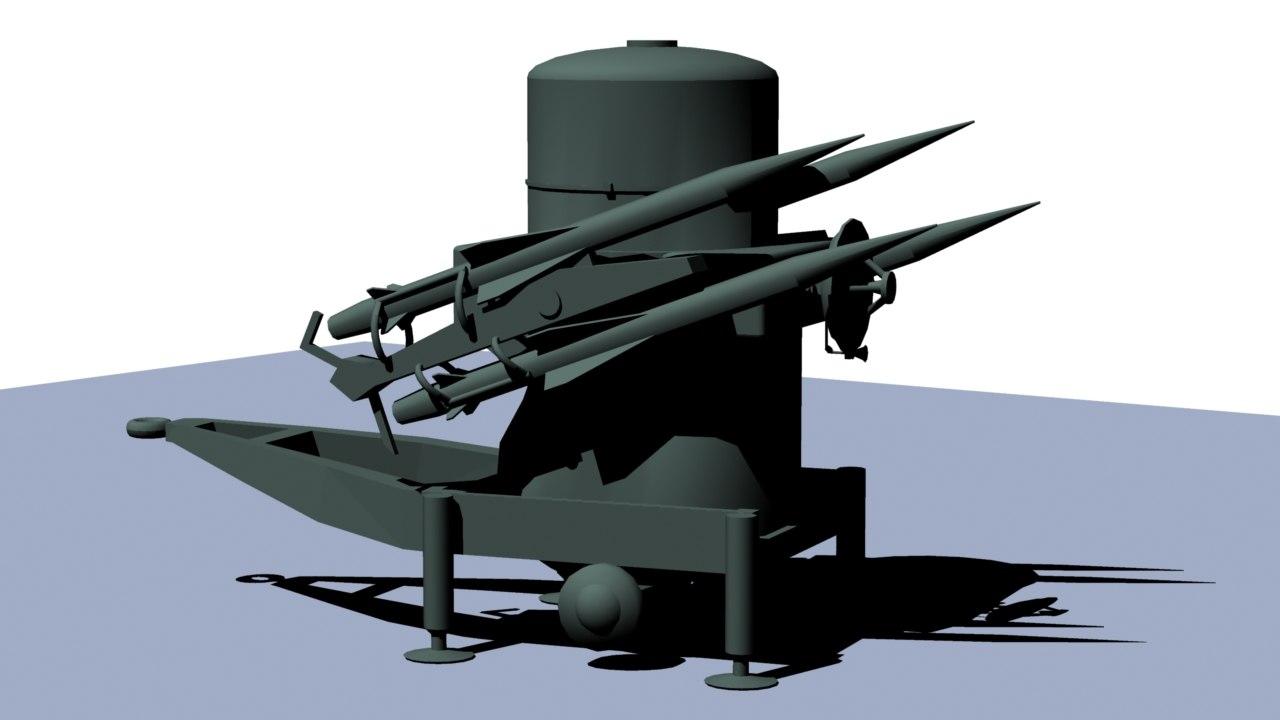 rapier missile 3d model